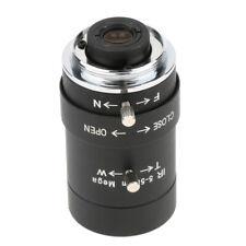 """1/3"""" 5-50mm F1.6 CS Mount Manual IRIS Varifocal CCTV Security Camera Lens"""