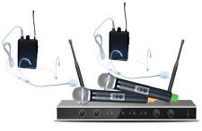 E-Lektron IU-4011MH UHF Funkmikrofon System 2 Hand- / 2 Headset-Mikrone 4-Kanal