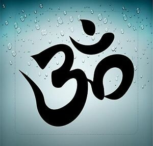 Sticker decal vinyl car bike bumper om aum symbol hindu yoga