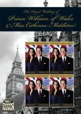 Ghana- Royal Wedding of Prince William And Kate Middleton Stamp Sheet of 4 MNH