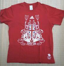 Adidas Red T Shirt Team GB Olympics 2012 Union Jack Size L