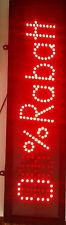 """LED SCHILD """"Rabatt%"""" LEUCHTSCHILD REKLAME LEUCHTREKLAME STOPPERca.L65XB17cm  NEU"""