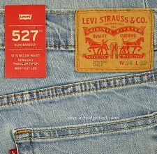 Levis 527 Jeans Mens New Slim Boot Cut Size 34 x 32 BLUE STONE Levi's NWT #210