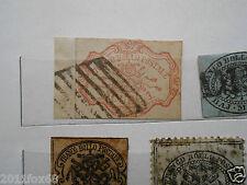 antichi stati 1 scudo rosa carminio usato su frammento 1852 stato pontificio xxx
