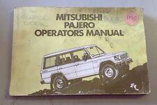 Mitsubishi Pajero Operators Manual Book