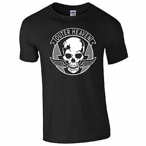 Outer Heaven T-Shirt - Metal Gear Solid V 5 Sign Gaming Logo Fan Gift Mens Top