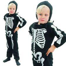 New Children Skeleton Costume Boys Age 2-3 Toddler Kids Halloween Fancy Dress