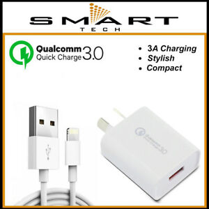 QC FAST Wall Charger Cable For iPhone 11 Pro Max 12 XR XS 8 Plus 7 6 X SE iPad 5