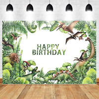 Dinosaur Photography Backdrop Baby Shower Birthday Party Forest Background 7x5FT