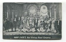 Harry Firth's Red Riding Hood Company - entertainers - c1920's postcard