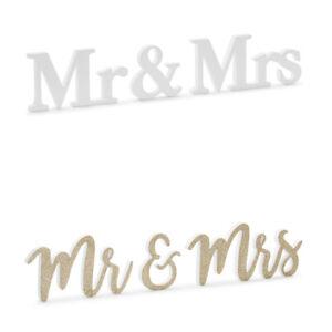 Holzaufschrift Mr&Mrs Farbauswahl Deko Dekoration Holzdekorationen