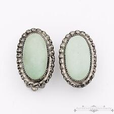Antique Vintage Art Deco .925 Sterling Silver Persian Turquoise Womens Earrings!