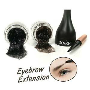 3D Natural Hair Fiber Natural Eyebrow Extension Gel with Eye Brow Brush