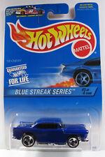 Hot Wheels 1997 - BLUE CARD COLLECTOR - '55 CHEVY - BLUE STREAK SERIE