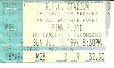 RARE / TICKET DE CONCERT - PINK FLOYD : LIVE AT WASHINGTON ( USA ) 1994