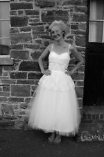 Bridal Gown Wedding Dress Size 8 Vintage Retro Style 50's