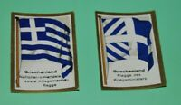 German Vintage Cigarettes Card, GREECE Historical Flags of countries World War I