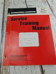 Vtg International Harvester Service Training Manual Hydraulic Training AEST202
