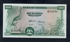 UGANDA 100  SHILLINGS ( 1966 ) PICK # 5  UNC.