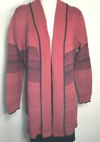 Cabi womens Joy cardigan sweater red purple knit size XL