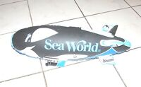 7 SHAMU inflatable  SEA WORLD  WHALE VINTAGE circa 1980 s  23 inch Collectable