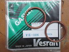 NOS Vesrah Exhaust Pipe Gasket Honda CB360 CB350 CX500 CX650 CL360 VE-1006 QTY2