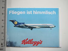 Aufkleber Sticker Kellogg's Lufthansa (7658)