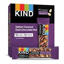 KIND Bars, Salted Caramel & Dark Chocolate Nut, Gluten Free, 12 Count