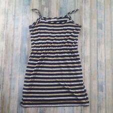 Calvin Klein Dress Spaghetti Strap Sheer Sparkle Black Silver Womens Size 10