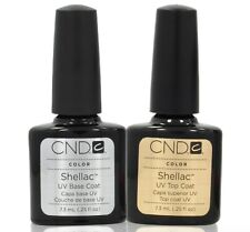 CND Shellac Nail Polish Base Coat and Top Coat 7.3ml Gel UV LED NEW