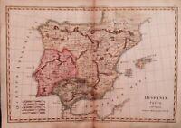 Spain, & Portugal; M. Bonne - Hispania Vetus - 1781-1800