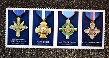 2016USA #5065-5068 Forever Service Cross Medals - Honoring Heroism Strip of 4