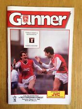 Arsenal v Nottingham Forest 1987/88 FA Cup programme