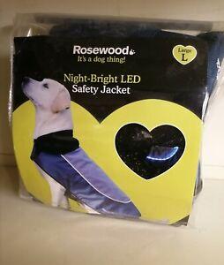 Rosewood Night-Bright LED Safety Dog Coat Jacket LARGE