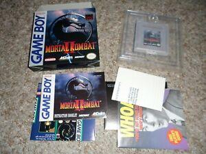 Mortal Kombat II 2 (Nintendo Game Boy, 1994) Gameboy CIB COMPLETE RARE