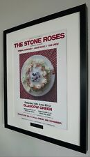 The Stone Roses-Glasgow Green 2013-Framed Original Poster-Oasis-Ian Brown