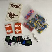 Vintage 1975 RISK Board Game Replacement Parts Lot Pieces Armies Cards Book Doce