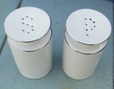 More details for thomas medaillon thin silver band salt &  pepper pots  £12.99(free post uk)