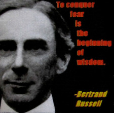 BERTRAND RUSSELL QUOTE - Printed Patch - Sew On - Vest, Jacket, Backpack, Hat