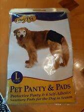 PROTECTIVE PANTY&SANITARY PADS FOR DOG IN SEASON MADE BY COZY PET- Large
