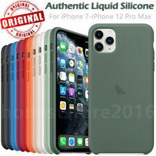 Original Genuine Silicone Case Cover For iPhone 12 Mini 11 Pro Max X XR 8 7 Plus