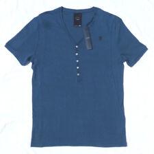 G Star Raw Men T-shirt Size 2XL XXL V-Neck Slim Fit Henley 5 Buttons Tee ASHER
