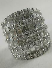 White Gold Cluster Band 21M Wide R3143 Modern 5.47Ct Diamond Right Hand Ring 18K