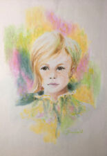 Peter Schofield, Listed Artist, Original Coated Pastel - Young Girl