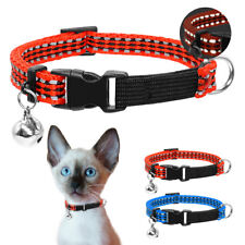Reflective Safety Quick Release Cat Collar Durable Adjustable Collar with Bell