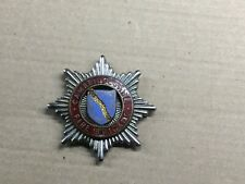 CAMBRIDGESHIRE  FIRE BRIGADE CAP BADGE - PRE 1974 - COUNTY - RARE / EX COND