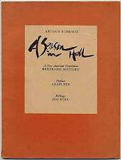 Arthur RIMBAUD / A Season in Hell A New American Translation First Edition 1976