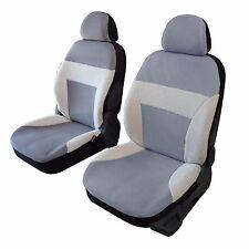 Housse sièges auto avant universelle imitation peau de mouton coloris gris
