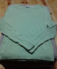 Izod cable knit crewneck crew neck sweater green small s euc cute