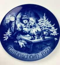 Bavaria Germany Bareuther Christmas Plate Weihnachten 1971 Collector's Plate